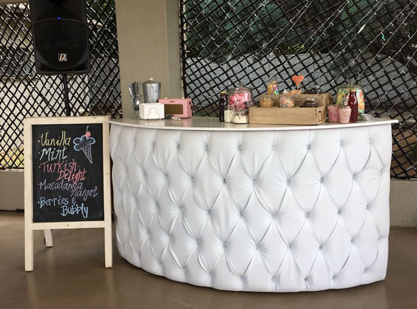 Mobile bar services for ice cream event