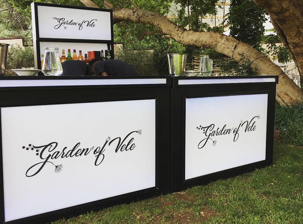 This mobile bar was supplied by drinks by drake, gauteng mobile bars
