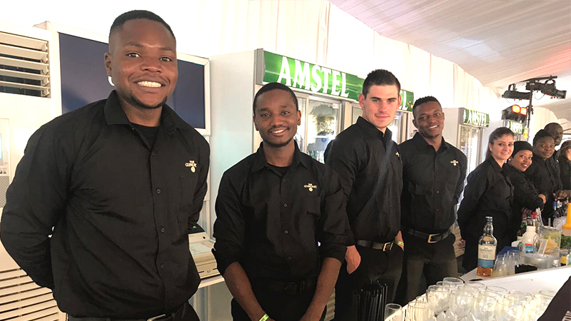 Smartly dressed and professional bartenders are available for your next event in Gauteng.