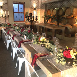 Rustic but still elegant decor for special event
