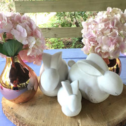 Lovely floral decor with bunnies at special event