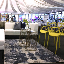 Event decor inside marque tent