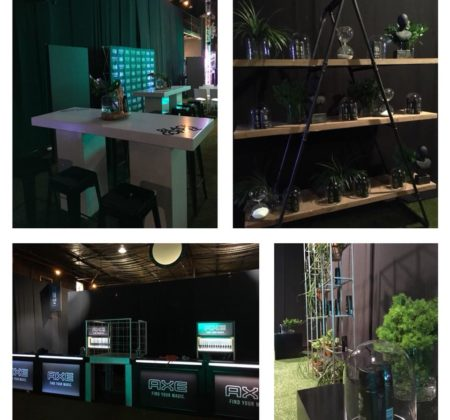 Interesting and elegant decor done for brand activation by Drake Events